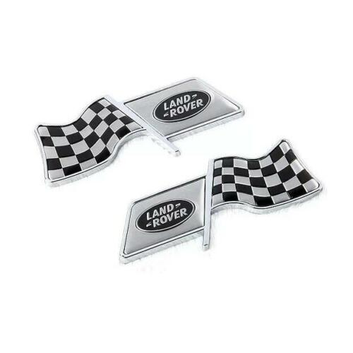 2Pcs F1 Flag Car Auto Styling Decor Decal Badge Emblem Fit for Land Rover