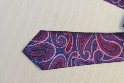 Ted Baker London men/'s Blue//Pink Paisley tie $95