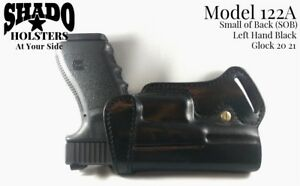 SHADO-Leather-Holster-Model-122A-Left-Hand-Black-fits-Glock-20-21-Brand-Products