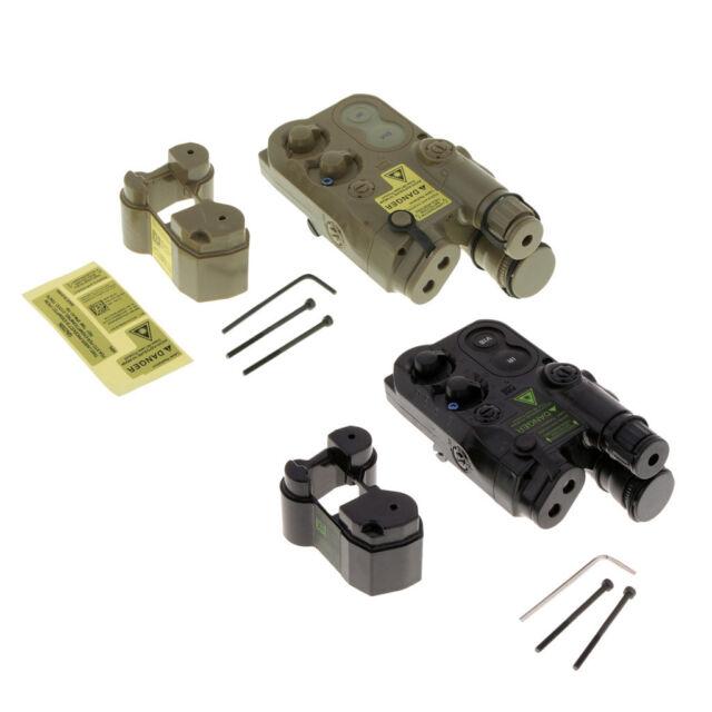 Caja de almacenamiento de la batería AN/PEQ-16 caso ficticio Lipo NiMH automática para pistola eléctrica Negro/Tan