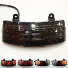 Tri-Bar Fender LED Integrated Tail Light Turn Signal 4 Harley FLHX FLTRX Touring