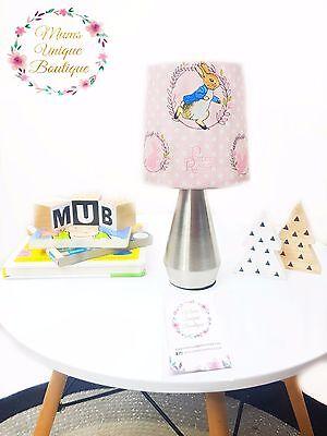 Pink Peter Rabbit Baby Children Nursery Table Lamp Night Light Touch Lamp   eBay