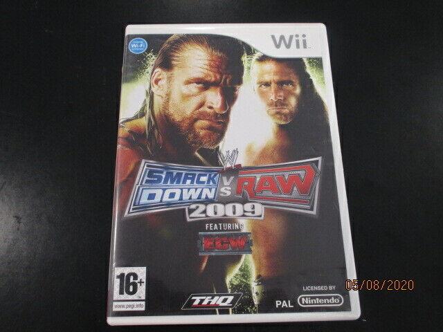 Jeu Wii - Smackdown vs Raw 2009 pal complet fr