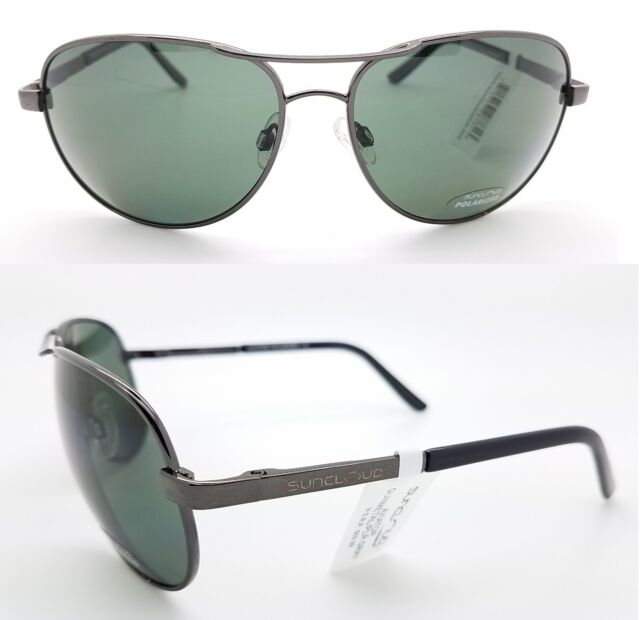 50003673e9e NEW Suncloud sunglasses Aviator Gunmetal Grey Polarized Unisex Large Gray  metal
