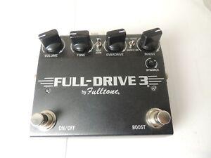 Fulltone Full Drive 3 Overdrive FX Pedal FullDrive Version 3 Free USA Ship