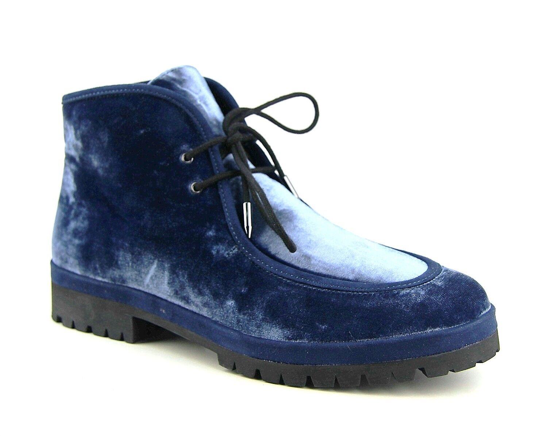 AVEC LES FILLES DEMI VELVET CHUKKA blueE BOOTS STYLE J2111007 BRAND NEW BOX