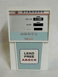 "LOOK! 1960`S STANDARD ""AMOCO"" LEAD FREE GAS PUMP NOVELTY TRANSISTOR RADIO WORKS!"