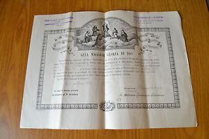 ANTICO DOCUMENTO BUSCA 1931 ALLA MAGGIOR GLORIA DI DIO CHIESA S CUORE indulgenza