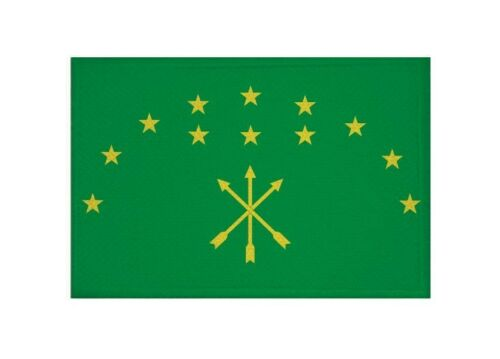 Aufnäher Adygien Fahne Flagge Aufbügler Patch 9 x 6 cm