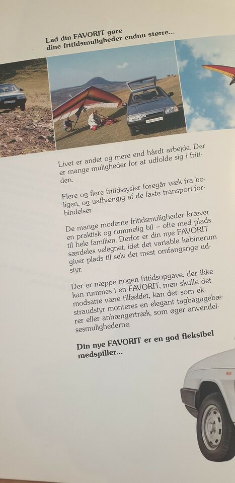 Brochure, Skoda Favorit