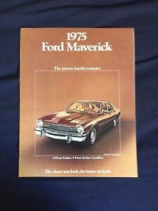 Grabber Decor 1975 Ford Maverick 8-page Original Dealer Sales Brochure Catalog