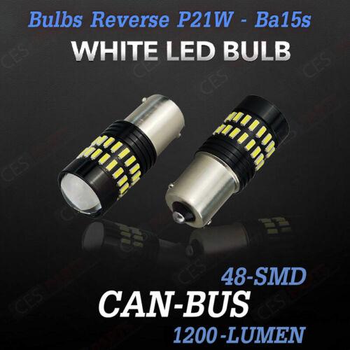 2x P21W Luz Reversa LED Cree Blanco Xenon BA15S Mini Cooper F55 F56 F57 2013-on