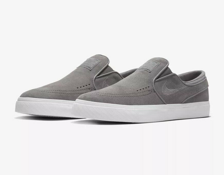 Nike SB Zoom Stefan Janoski Slip-On shoes - Gunsmoke Grey White - Sizes 9-12