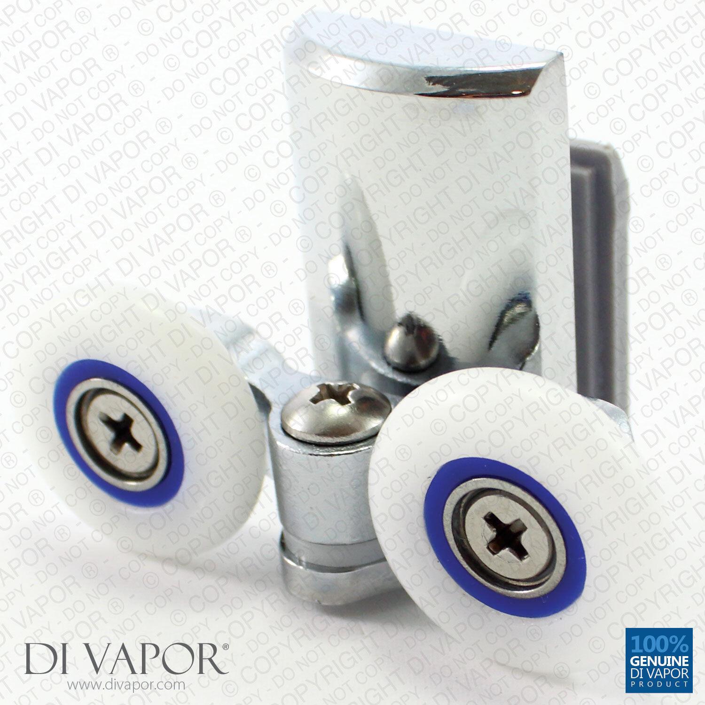 Di Vapor (R) 24mm 25mm Resorte del eslabón giratorio doble puerta de ducha rodillo de Metal Aleación Zinc