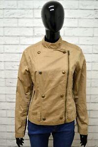 Giubbino-MARLBORO-CLASSIC-Donna-Taglia-Size-M-Giubbotto-Giacca-Coat-Jacket-Beige