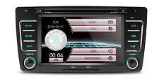AUTORADIO GPS SKODA OCTAVIA YETI RAPID USB SD DIVX MP3 DVD CANBUS MAPPE MIRROR