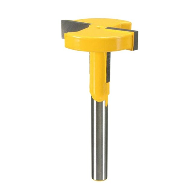 1//4In Shank T-Slot Router Bit Carbide T-Track Slotting Wood Milling Cutter Tool