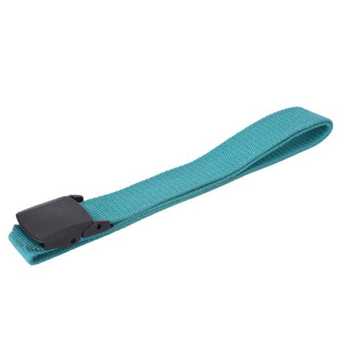 Men Women Waist Belt Waistband Casual Plain Webbing Canvas Belt Strap Belts J5S