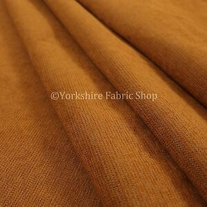 10-Metres-Of-Soft-Luxurious-Chenille-Heavily-Textured-Orange-Upholstery-Fabric