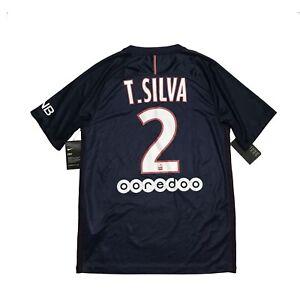 Hombres PARIS Saint-Germain Psg Home 2016 #2 T. Silva maglia ...
