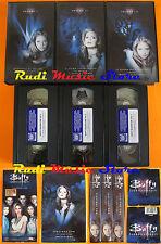 film BOX 3 VHS BUFFY L'AMMAZZAVAMPIRI stagione uno episodi 1-12 (F23) no dvd