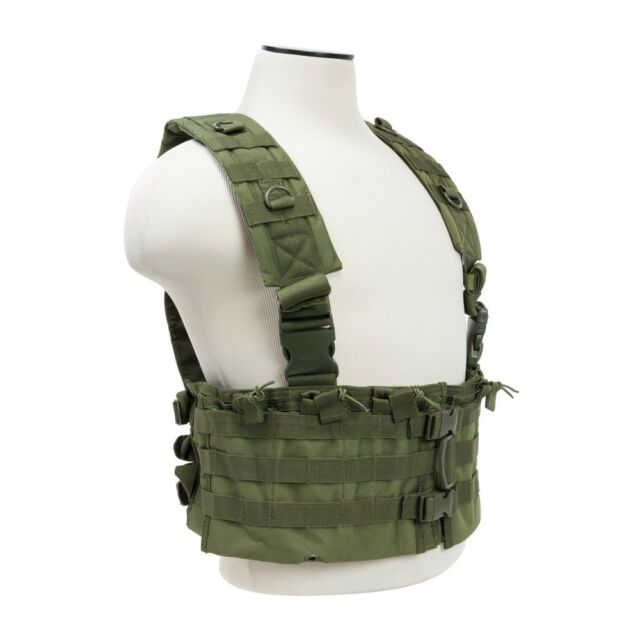 NcSTAR Green Airsoft Tactical Vest AR Chest Rig w// 6 AR Mag Pouches CVARCR2922G