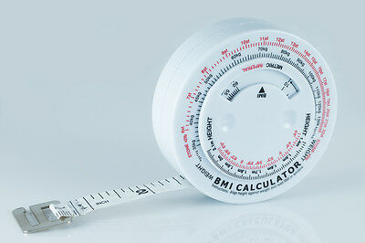 x10 Body Mass Measuring Tape Fitness Tester Weight Loss Muscle BMI w/instruction