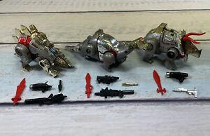 Vintage Takara G1 Transformers 1984 Dinobot Lot With Snarl Slag Sludge