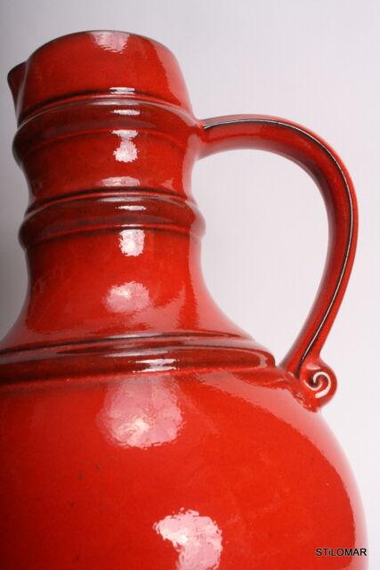 A576   70er Mid century Modernist  Big Jug Red  Retro  WGP 70s