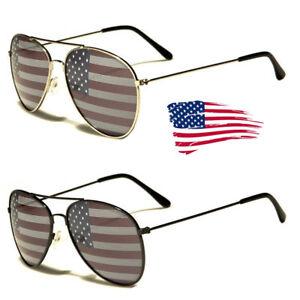 74be669eedc Image is loading American-USA-Flag-Aviator-Sunglasses-Patriotic- United-States-