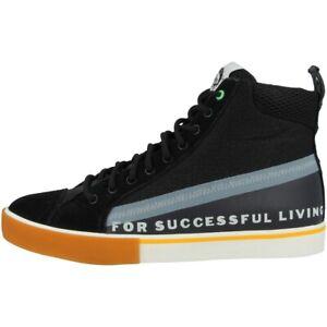 Diesel-S-DVELOWS-Mid-Scarpe-High-Top-Sneaker-Lacci-Black-Y01987-P3009-H7815