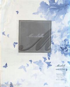 Mirabello Italy Cotton Tablecloth Butterflies Rose e Farfalle Blue 63 x 102 NEW