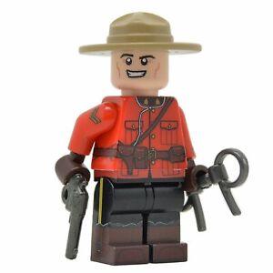 LEGO-custom-Canadian-Mountie-corps-plein-d-039-impression-NEUF-briques-M1917