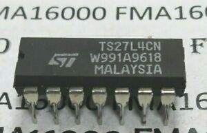 TS27L4CN DIP16 ORIGINAL ST-THOMSON TS27L4-CN TS27L-4CN   27L4CN NEUF