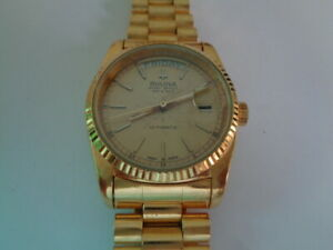 BULOVA-SUPER-SEVILLE-MENS-WATCH-DAY-amp-DATE-AUTOMATIC-GOLD-PLAQUE