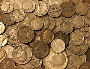 Details about $10 Face Value Lot Of Old US Minted Mixed 35% 40% & 90%  Silver Coins! No Junk!