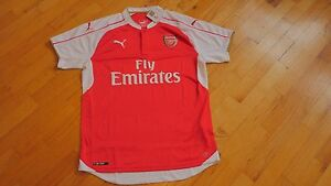 ea80f967 Puma Arsenal FC 2014-2015 Home Soccer Jersey Brand New Red / White ...