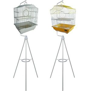 HERITAGE-SMALL-BIRD-CAGE-amp-TRIPOD-BIRD-CAGES-STAND-GREAT-VALUE-BUDGIE-CANARY