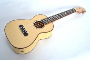 UKULELE CONCERT ELECTRO SOLID TOP STUNNING FLAME MAPLE BODY BY CLEARWATER