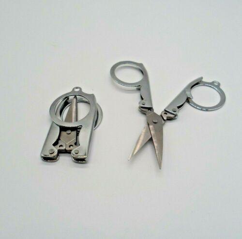 Bolsillo Mini Llavero De Viaje Plegable de costura tijeras manualidades costura