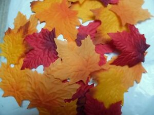 100-QUALITY-MIXED-SILK-AUTUMN-MAPLE-LEAF-UK-SELLER-WEDDING-CRAFTS-DECOR-COSTUME