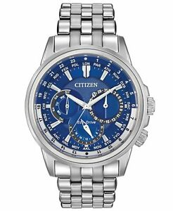 Citizen-Calendrier-Dark-Blue-Dial-Men-039-s-Watch-BU2021-51L-BNIB