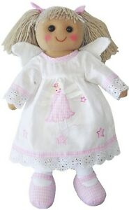 Angel-Rag-Doll-by-Powell-Craft-White-Dress-Wings-Pink-Gingham-Shoes-Large-40cm