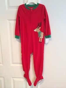 8ec731df2 NWT Carter s Boys  Reindeer Christmas One Piece Zip Up Footed ...
