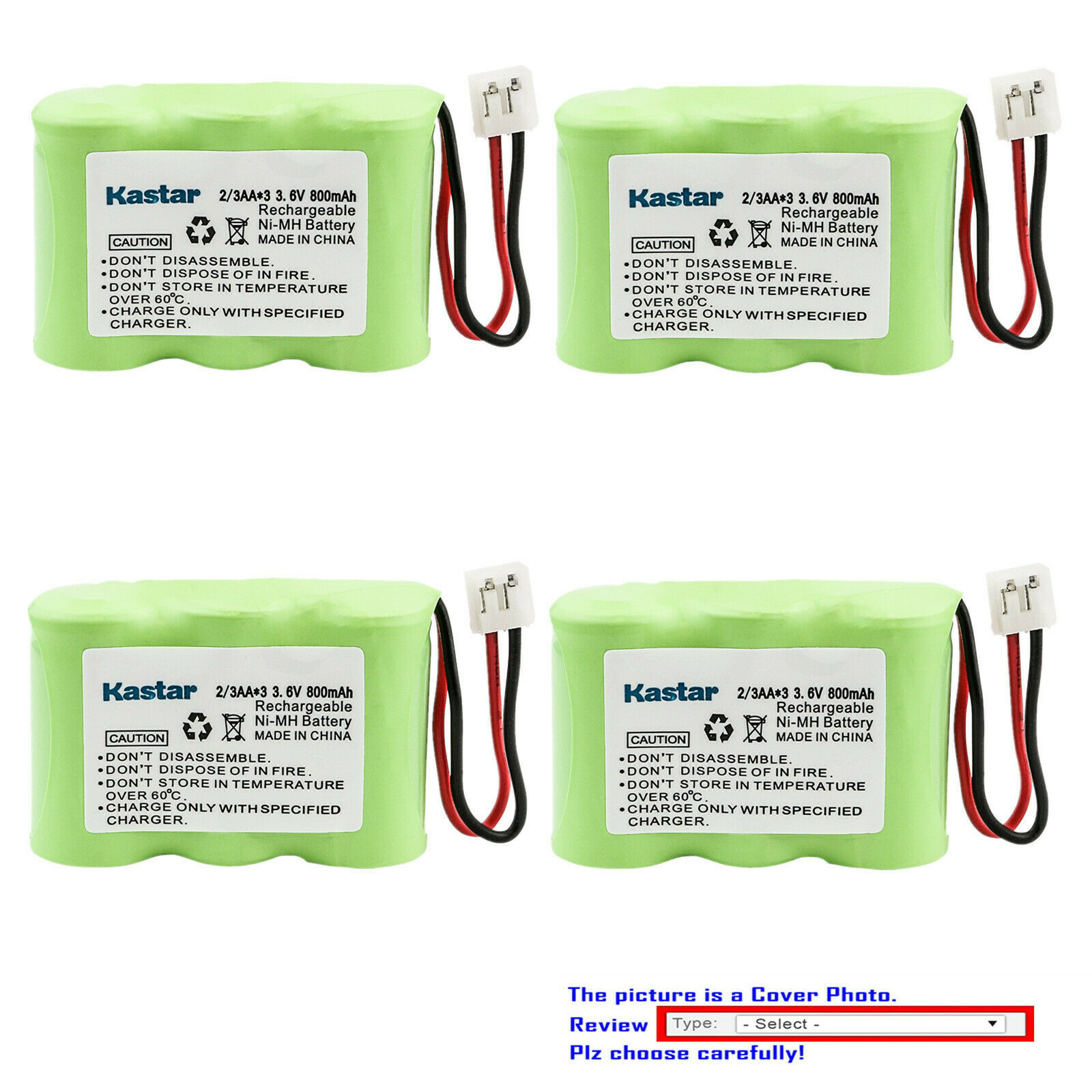 Kastar Cordless Battery Fits for AT&T Lucent 1145 1165 1177 1187 1445 1465 1477