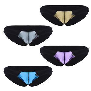 5e648182a5a1 Spandex Men's Thongs G-String Shiny T-Back Briefs Underwear Mini ...