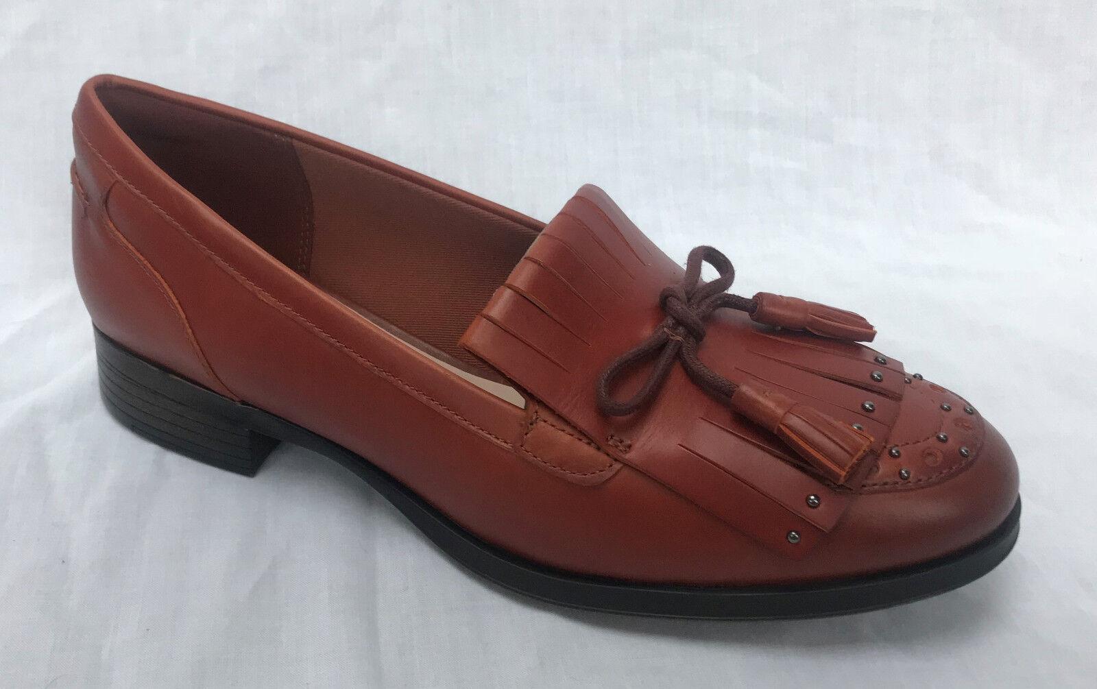 Nuevo y en caja Clarks Clarks Clarks Damas Busby Lola Bronceado Mocasín Cuero Zapatos  tienda de bajo costo