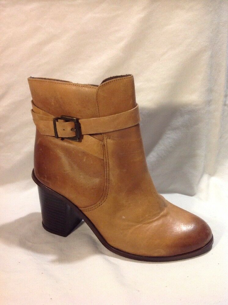 Carvela Brown Ankle Leather Boots Size 37
