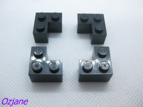 LEGO PART 2357 BLACK BRICK 2 X 2 CORNER X4 PIECES
