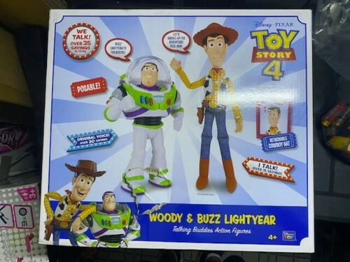 Disney Toy Story 4 Woody and Buzz Talking Figures